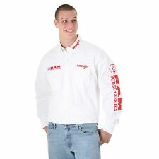 New mens Wrangler® Logo Long Sleeve White  Shirt Ram Rodeo