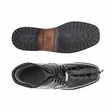 Mens Shoes Belvedere Boot Barone Black Genuine Hornback and Genuine Ostrich 491