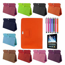 Apple iPad Leather Case Cover w/Screen Protector + Stylus + Free Charging Cable