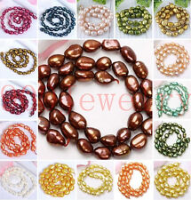 8-9mm Cultured Rice Oval Fresh Water Pearl Loose Freeform DIY Gift Bead Findings