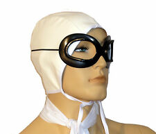Amelia Earhart Off White Aviator Cap Scarf and Goggles 60282