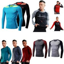 Mens Compression Under Shirt Base Layer Tight Tops Sports T-Shirts Athletic Gear