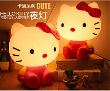 Hello Kitty Modern Cute Table Lamp Bedside Desk Light Children Bedroom Lighting