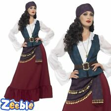 Womens Pirate Costume Adults Womans Buccaneer Beauty Fancy Dress Outfit