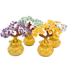 Natural Crystal Money Tree Bonsai Style Wealth Luck Feng Shui Bring Wealth Home
