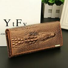 Women 3D Texture Bifold Long Wallet Multi-pocket Purse Money Cards KECP