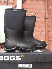 NEW BOGS CLASSIC HIGH 60142 WINTER BOOTS BLACK FOR MEN