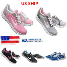 Womens Sport Running Tennis Lace Up Sneakers Mesh Breathable Trainers Shoes Size