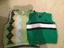 Baby Boy Carter's/Chaps Cotton V-Neck Sweater Vests-12M Holiday/Special Occasion