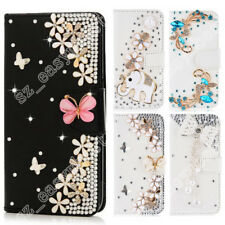 Shiny Flip Bling Rhinestone Diamond Wallet Case Leather Cover For Cell Phone