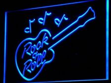 "16""x12"" i763-b Rock and Roll Guitar Music Bar Neon Sign"