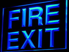 """16""""x12"""" i777-b Fire Exit Emergency Exit Display Neon Sign"""