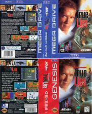 True Lies PAL & NTSC Sega Mega Drive & Genesis Replacement Box Art Case Insert
