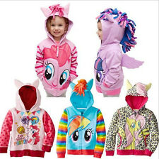 Kids Girls Cute Horse Floral Hoodie Wings Coat Jacket Sweater Tops 1-8 Years UK