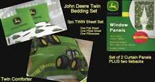 John Deere TWIN Boys Bedding Set Tractor Farm Comforter Sheets Curtains