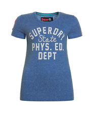 New Womens Superdry Factory Second Dept Entry T-Shirt Regatta Blue Marl