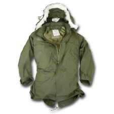 US ARMY EXTREME COLD WEATHER OLIVE GREEN FISH TAIL PARKA MOD HOODED LINED USED