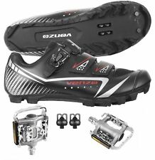 Venzo Mountain Bike Bicycle Cycling Shimano SPD Shoes with Pedals
