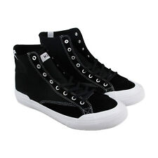 HUF Classic Hi Ess Mens Black Canvas & Suede High Top Lace Up Sneakers Shoes