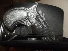 Vintage Steampunk Cyber Retro Goggles & Black satin Top Hat with pistol