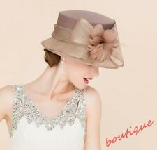 Ladies Mesh Linen Wedding Noble Formal Kentucky Derby Church Feather Dress Hat