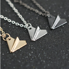 1D One Direction Necklace Paper Airplane Plane Pendant Silver Gold Black Gun