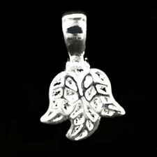 Three Leaf Silver Plated Pendant Bails Jewellery Making Findings Beads K150