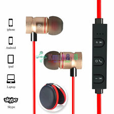 Red -KM56 Magnetic Bluetooth Handsfree Headset Earphone For Cell Phone Samsung