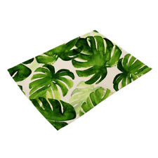 Kitchen Environmental Green Leaves Placemats Insulation Dining Table Mat