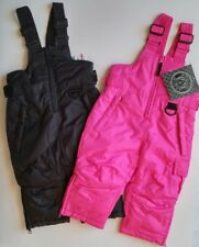 Baby Girl Boy Toddler 6M Snow Pants Bib Overalls Arctic Quest Pink Black Clothes