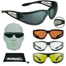 Motorcycle Riding Sunglasses Safety Biker Glasses Wind Resistant Clear Yellow HD