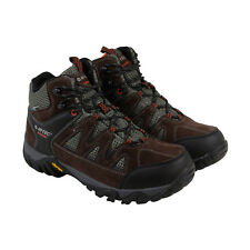 Hi-Tec Sonorous Mid Ii Mens Brown Leather & Mesh Hiking Lace Up Boots Shoes