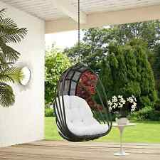 Modway Whisk Steel and Polyethylene Rattan Outdoor Patio Swing Chair With Sun