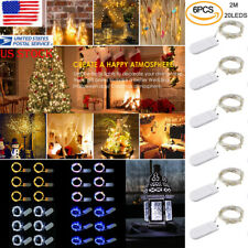 6X 2M 20LEDs Copper Wire LED String Light Battery Waterproof Light Holiday Party