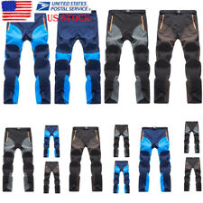 Men Quick Dry Outdoor Pants Outdoor Stretch Trouser Patchwork Waterproof Bottoms