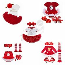 Christmas Newborn Baby Girls Romper Dress Jumpsuit Outfits Tutu Clothes Costume