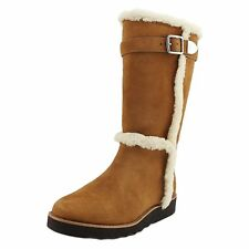 Coach Womens Belmont Suede Closed Toe Mid-Calf Fashion Boots