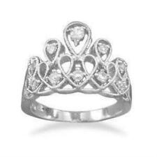 Sterling Silver and CZ Tiara Ring