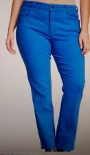 NEW NYDJ Not Your Daughters Jeans pants Marilyn straight leg Atlantis blue 24W