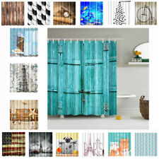 1.8m Square Assorted Bathroom Shower Curtain Waterproof Panel Fabric Sheer