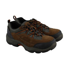 Hi-Tec Bandera Pro Low Steel Toe Mens Brown Leather & Textile Hiking Boots Shoes