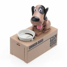 Cute Dog Piggy Bank Funky Robotic Greedy Dog Money Coin Box 3 Colors Gift Newet