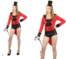 Circus Ringmaster Ladies Sexy Showgirl Lion Tamer Fancy Dress Outfit 6/24