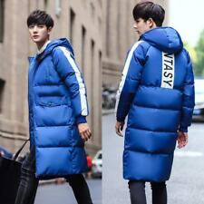 Stylish Mens Cocoon Parka Hooded Cotton Down Long Loose Outwear Coat Jacket size