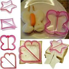 Kids Sandwich Toast Cookies Mold Plastic Cake Bread Biscuit Food Cutter Decor
