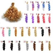 15x100cm DIY Curly Hair Wig Hairpiece for 1/3 1/4 1/6 Barbie BJD SD LUTS Doll