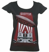 Official Women's Led Zeppelin Mothership Charcoal T-Shirt from Amplified