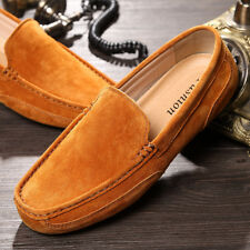 Genuine Suede Loafer  Leisure Mens Non-Slip Comfy 2017 Moccasins Driving Shoes N