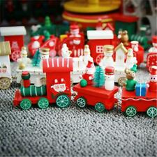 Christmas Decoration Home Little Train Papular Wooden Train Christmas Ornaments