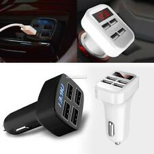 Portable 4 USB Chargers DC12V to 5V Car Chargers For IPhone 7 6S/ Galaxy FT 01